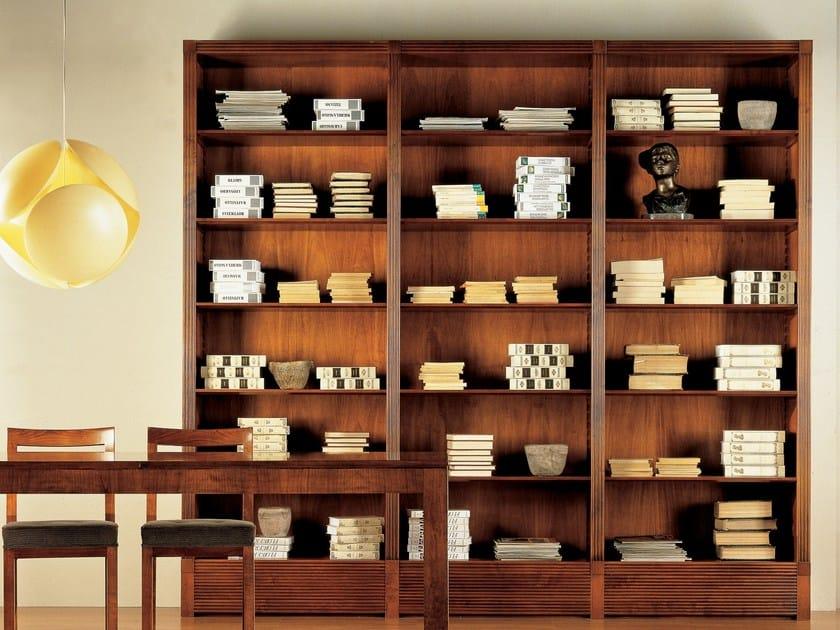 Open wooden bookcase BIBLIOTECA | Open bookcase by Morelato
