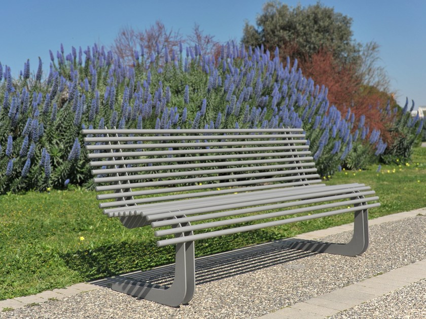 Steel Bench MOBY by LAB23 - Urban Smart Living