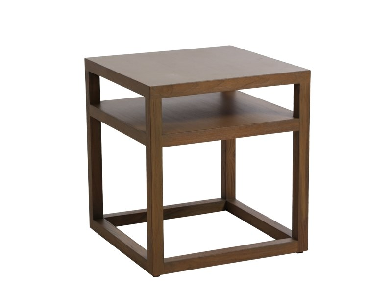 Square solid wood bedside table MOD | Bedside table by WARISAN