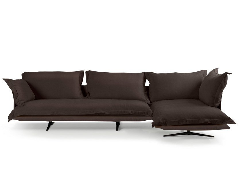 3 seater fabric sofa with chaise longue MODEL | Sofa with chaise longue by ALBEDO