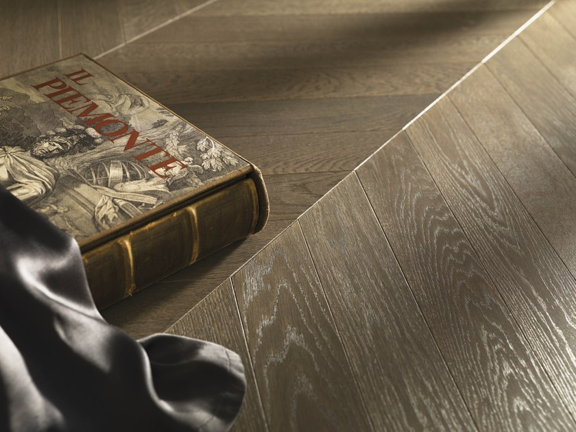Prefinished brushed European Oak parquet, 2 layers AMBURGO | Oak parquet by Alma by Giorio
