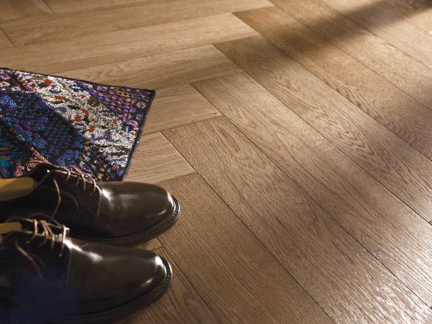 Prefinished brushed European Oak parquet, 2 layers SAVOIA | Oak parquet by Alma by Giorio