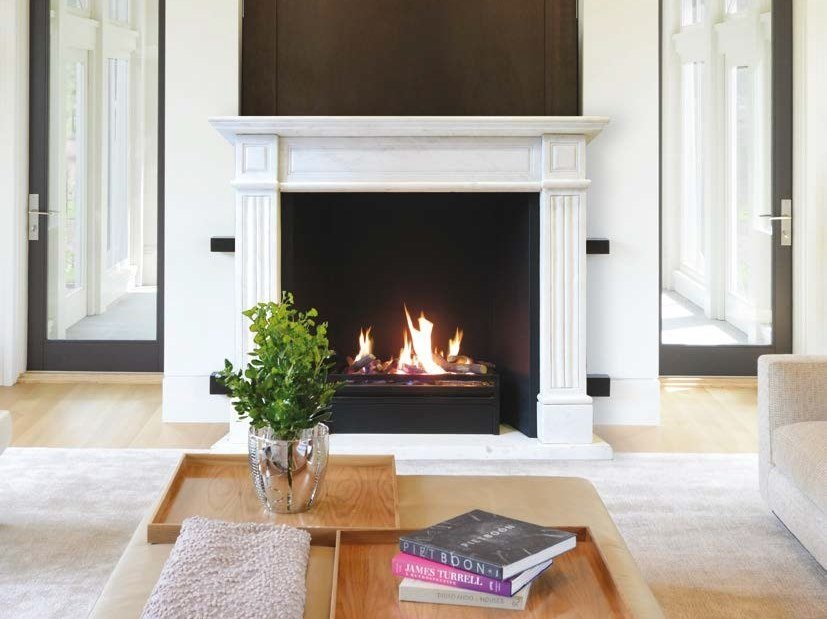 Gas open metal fireplace with remote control MODERN by BRITISH FIRES