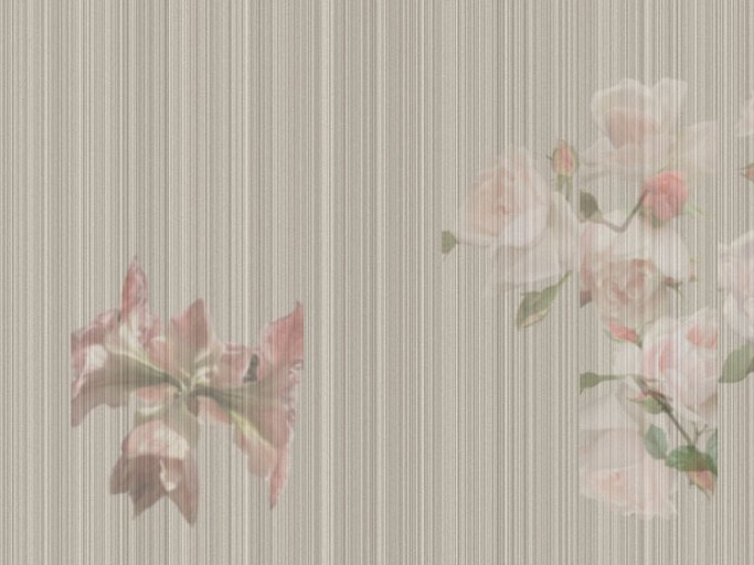 Wallpaper with floral pattern MODERN GARDEN by Tecnografica Italian Wallcoverings