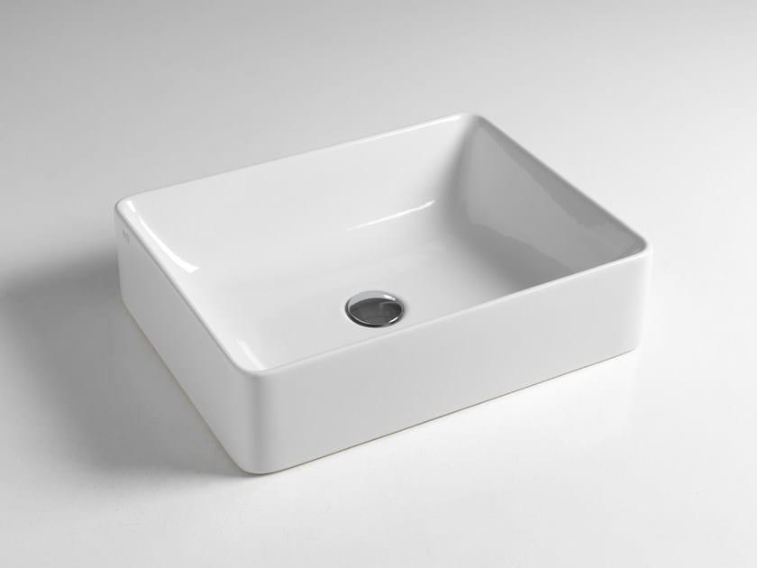 Lavabo da appoggio rettangolare in ceramica SLIDE by BLEU PROVENCE
