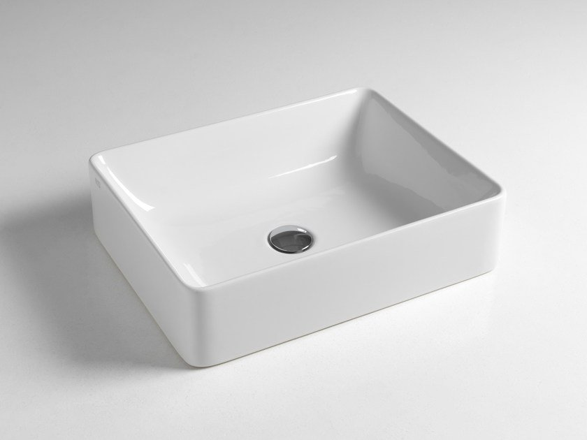 Countertop rectangular ceramic washbasin SLIDE by BLEU PROVENCE