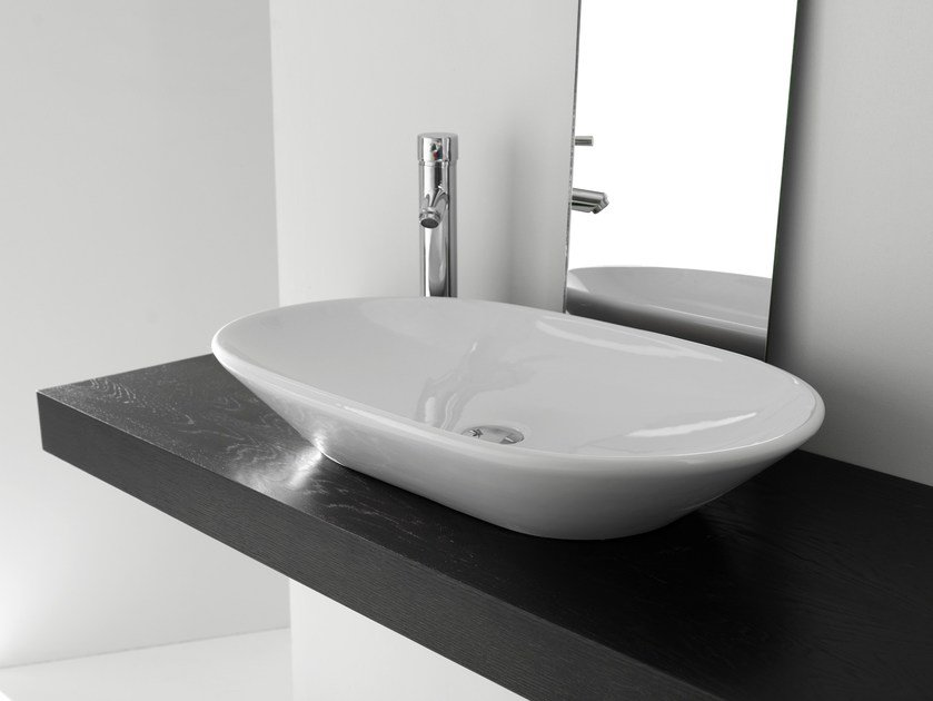 Countertop oval ceramic washbasin BP021-BP022-BP023   Washbasin by BLEU PROVENCE
