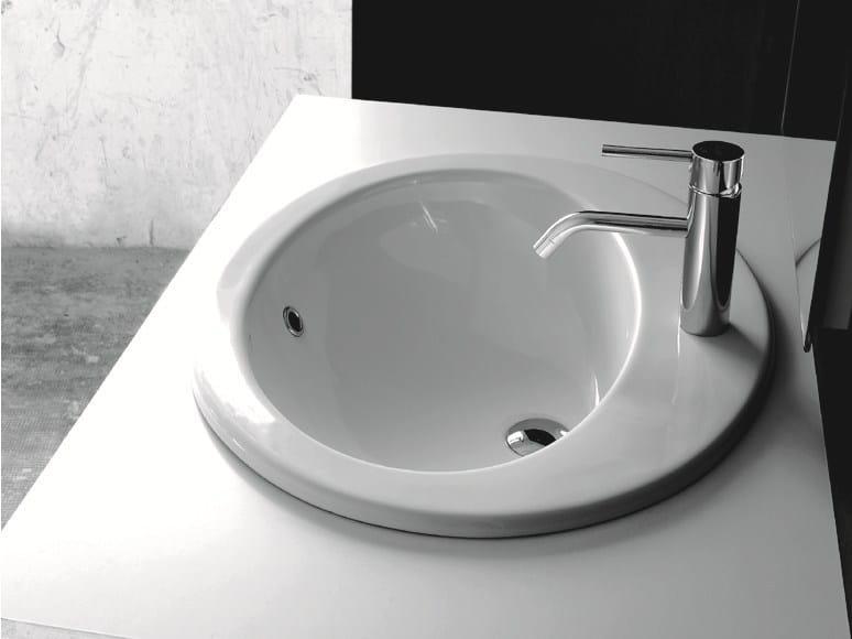 Lavabo da incasso soprapiano ovale in ceramica BP013-BP014 | Lavabo by BLEU PROVENCE