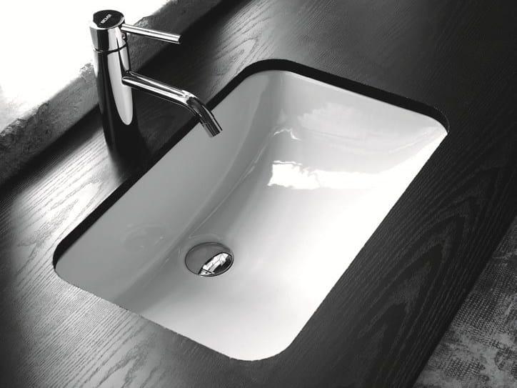 Lavabo da incasso sottopiano rettangolare in ceramica BP007   Lavabo by BLEU PROVENCE