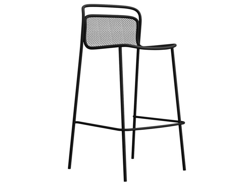 High steel stool MODERN | Stool by emu
