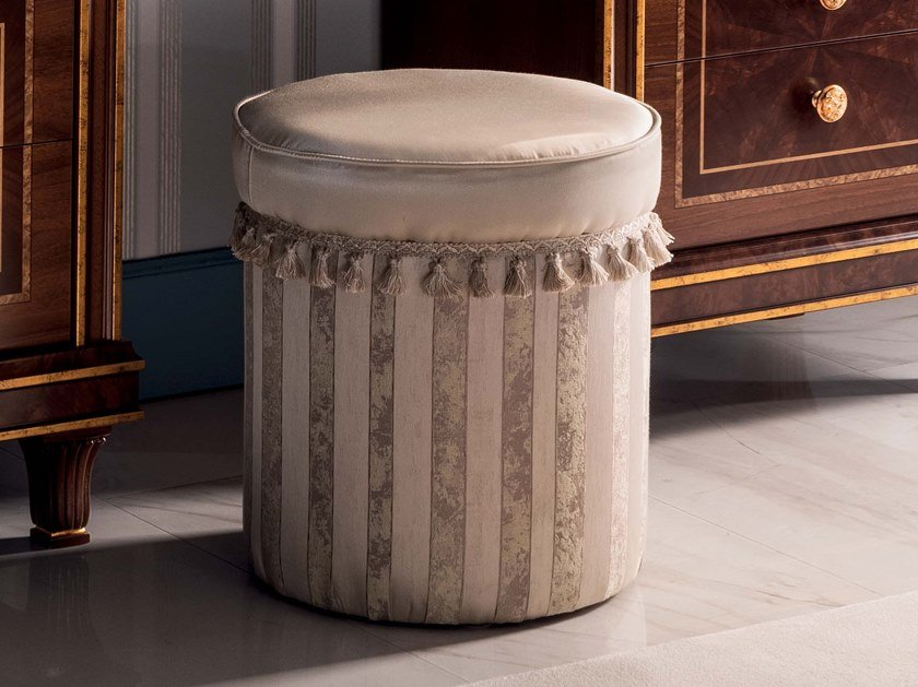 Round fabric pouf MODIGLIANI   Pouf by Arredoclassic