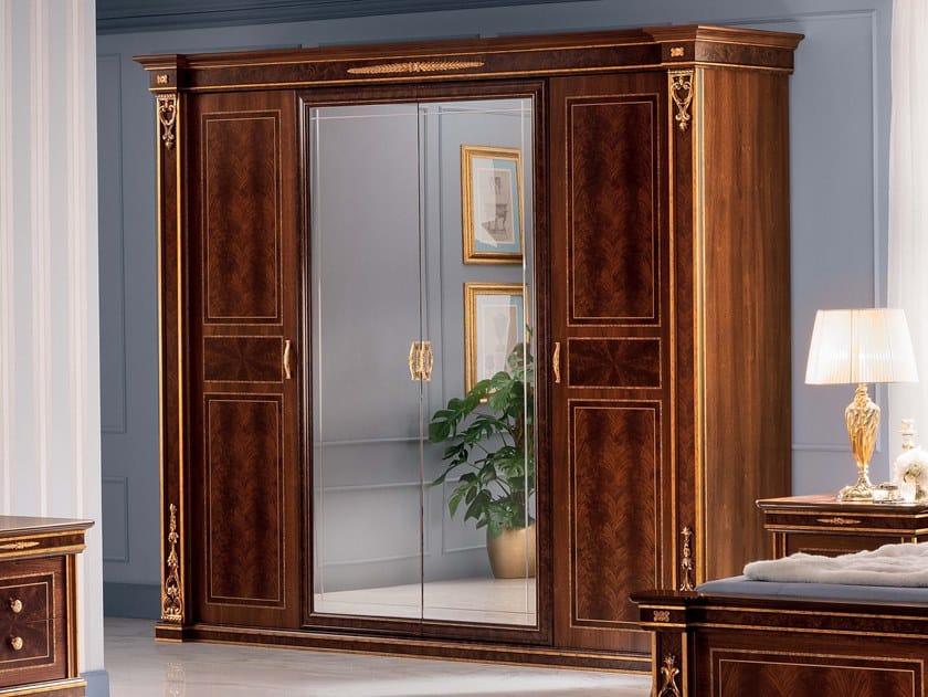 Mirrored wooden wardrobe MODIGLIANI   Wardrobe by Arredoclassic