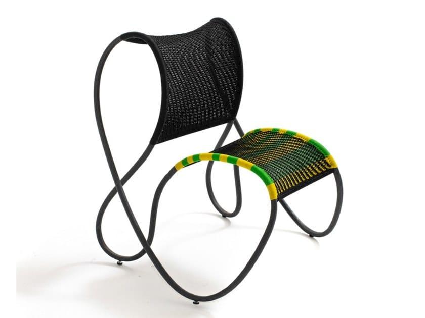 Garden polyethylene cords easy chair MODOU | Easy chair by Moroso