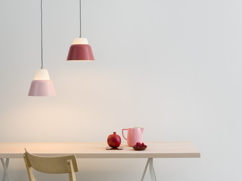 Glass and steel pendant lamp MODU M by TEO