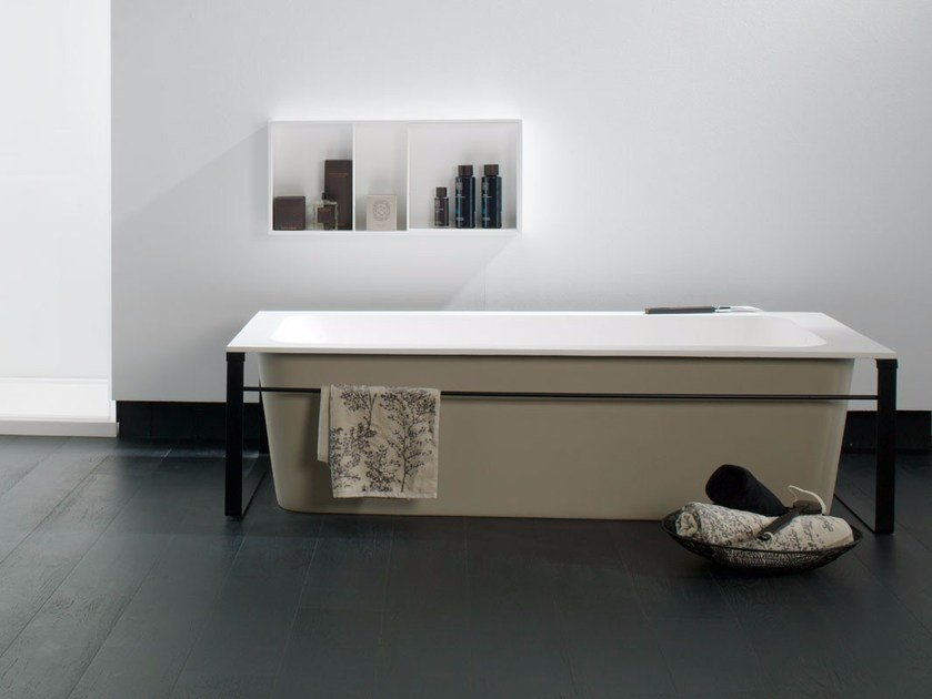 Rectangular Krion® bathtub MODUL | Bathtub by Systempool
