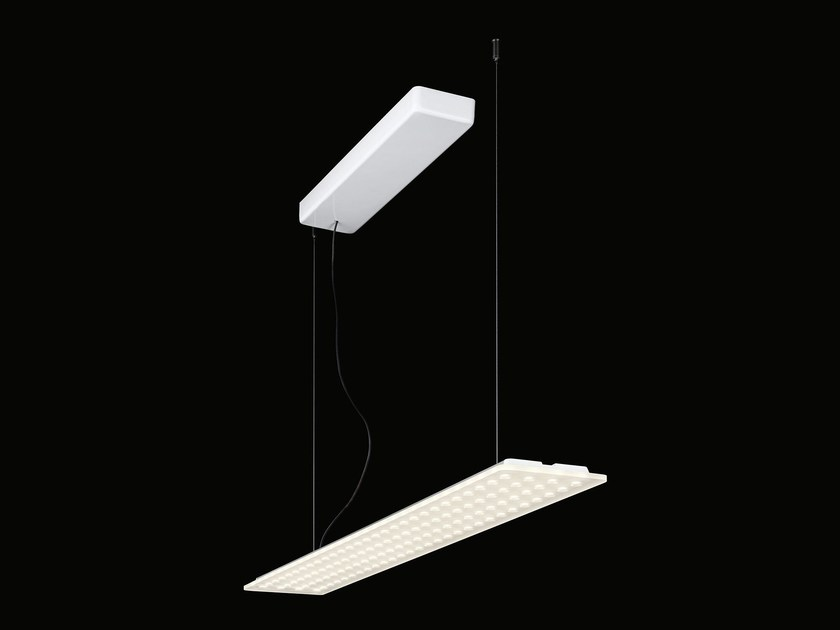 Suspended luminaire without ceiling mounted housing MODUL L 112 by Nimbus
