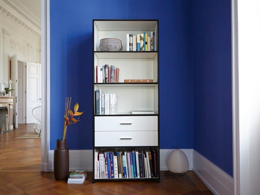 Modulares Büroregal aus Metall MODUL SPACE | Bücherregal by Bosse