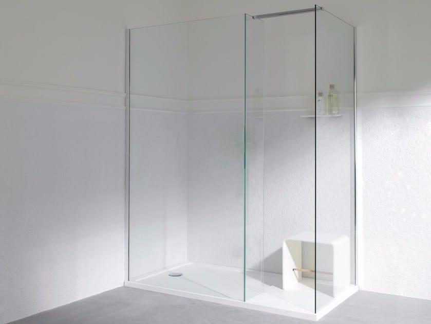 Box doccia in vetro temperato con piatto MODUL | Box doccia con piatto by KRION