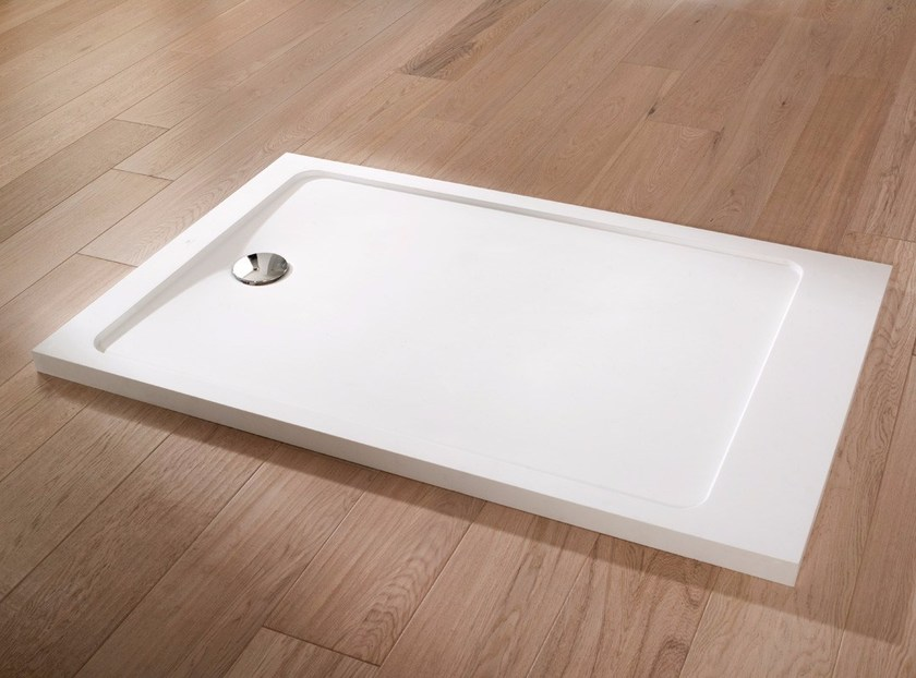 Rectangular Krion® shower tray MODUL | Shower tray by Systempool