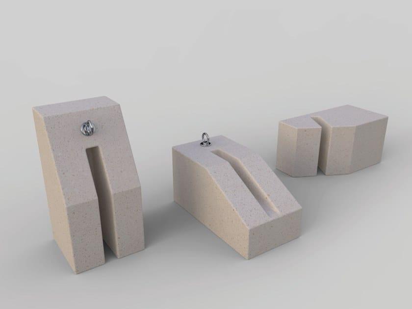 Reconstructed stone Bicycle rack MODULA | Bicycle rack by Manufatti Viscio