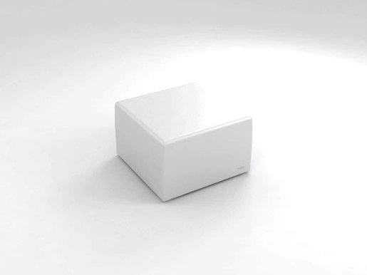 Polyethylene garden side table with light BRISA | Modular coffee table by Lamalva