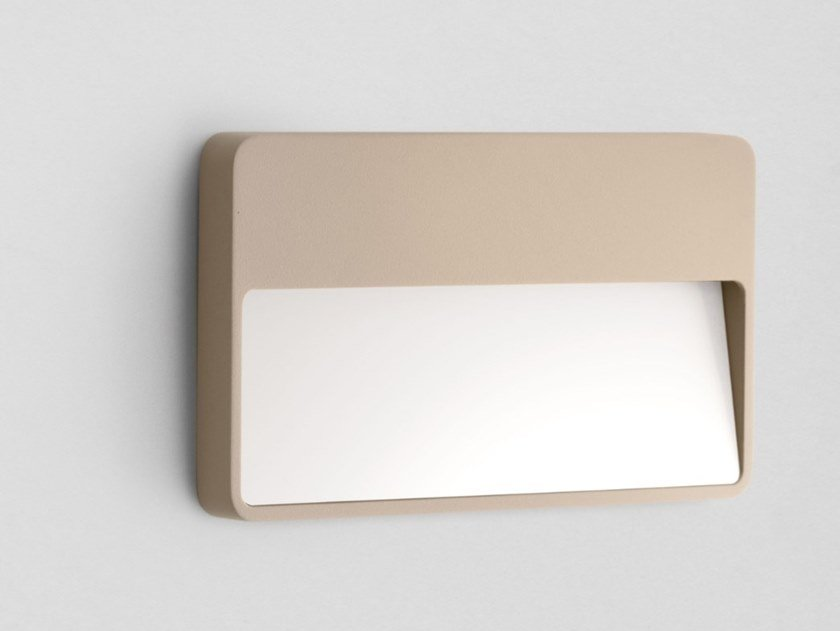 LED wall-mounted outdoor aluminium steplight MODULO A by DIOMEDE
