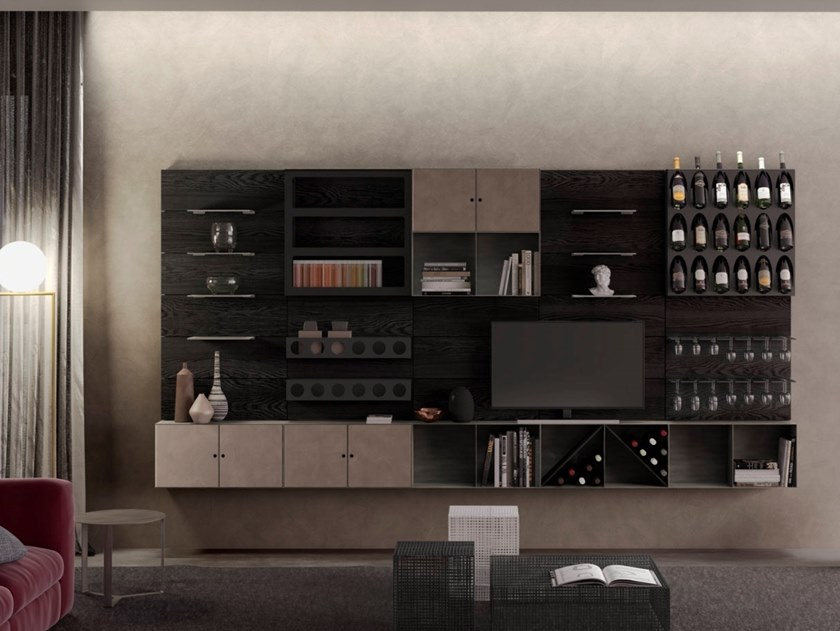 Sectional modular storage wall MODULO by ELITE TO BE