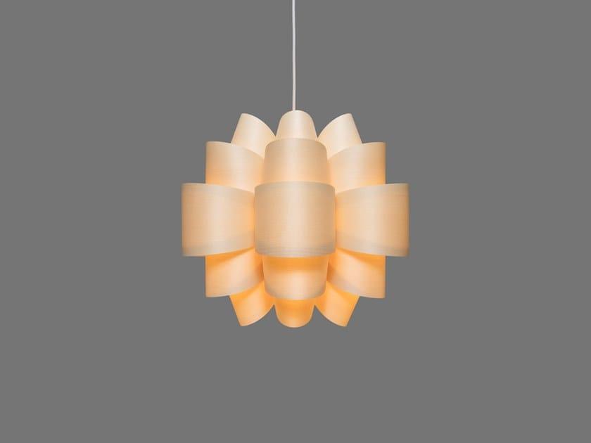 LED handmade wood veneer pendant lamp MOGEN6 | Pendant lamp by SENCE
