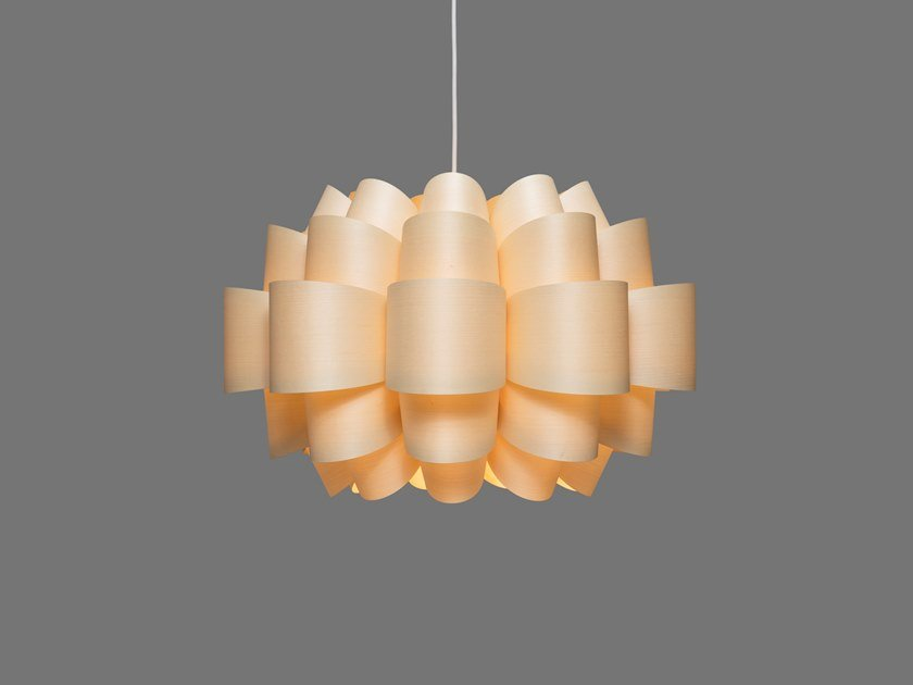 LED handmade wood veneer pendant lamp MOGEN9 | Pendant lamp by SENCE