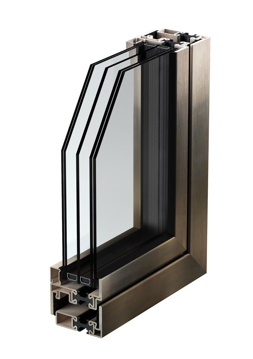 M65 TB ACCIAIO INOX   Porta-finestra a taglio termico