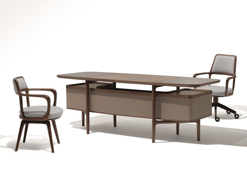 Rectangular wooden writing desk MOGUL by GIORGETTI
