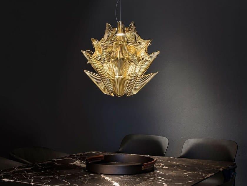 Lampada a sospensione a LED in metallo MOIRÈ by TERZANI