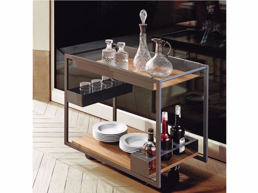 Wooden drinks trolley MOJITO WOOD by Cattelan Italia