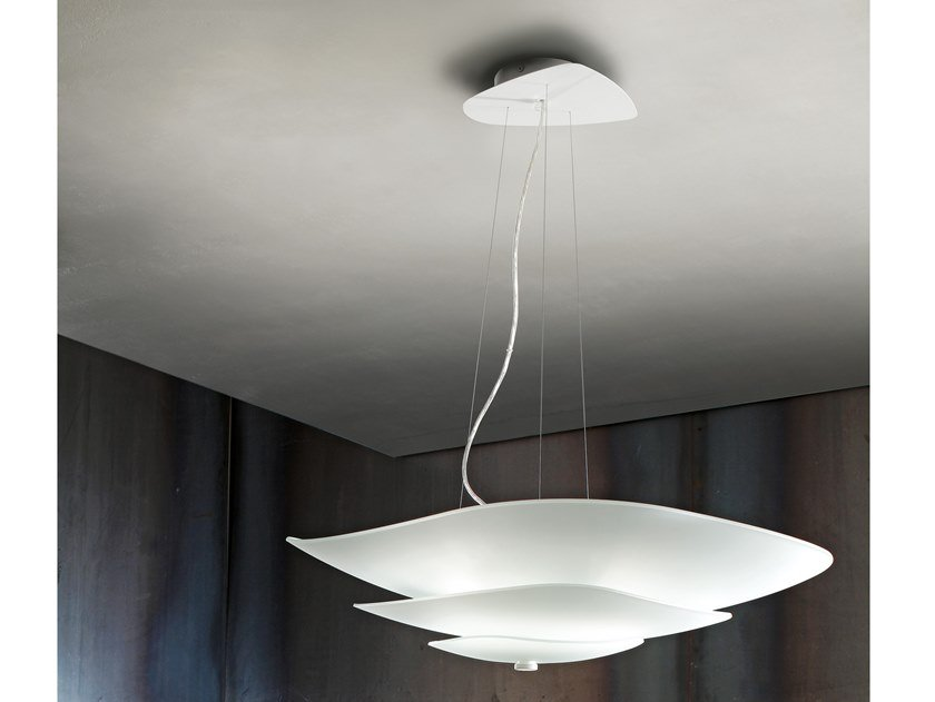 Lampada a sospensione a LED in vetro MOLEDRO_P by Linea Light Group