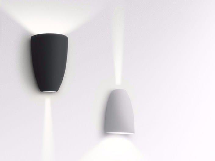 Applique per esterno a led a luce diretta e indiretta in alluminio