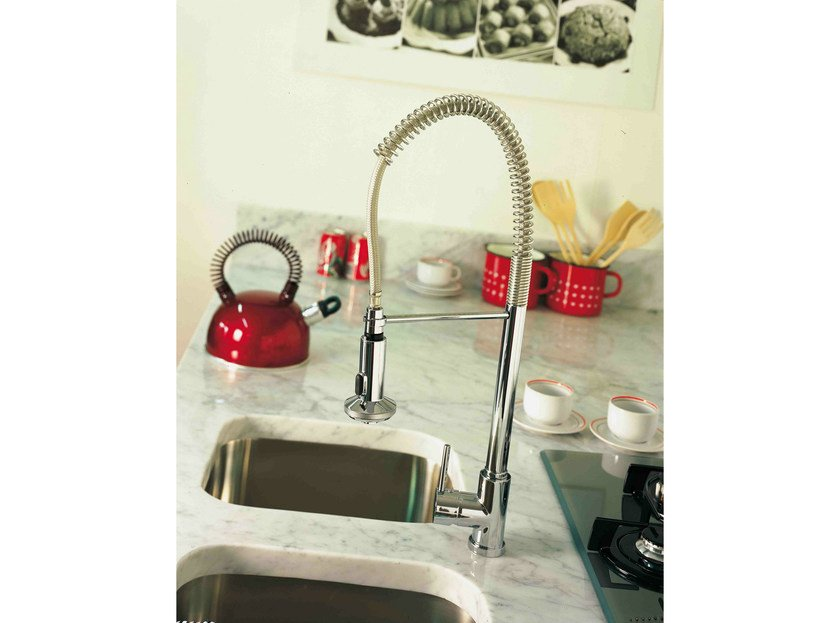 1 hole kitchen mixer tap with spray MOLLA by Rubinetterie 3M