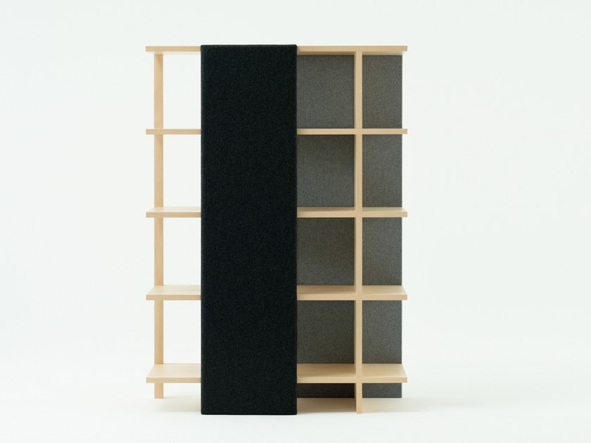 Open divider maple bookcase MOLLY (HIGH) by MEETEE
