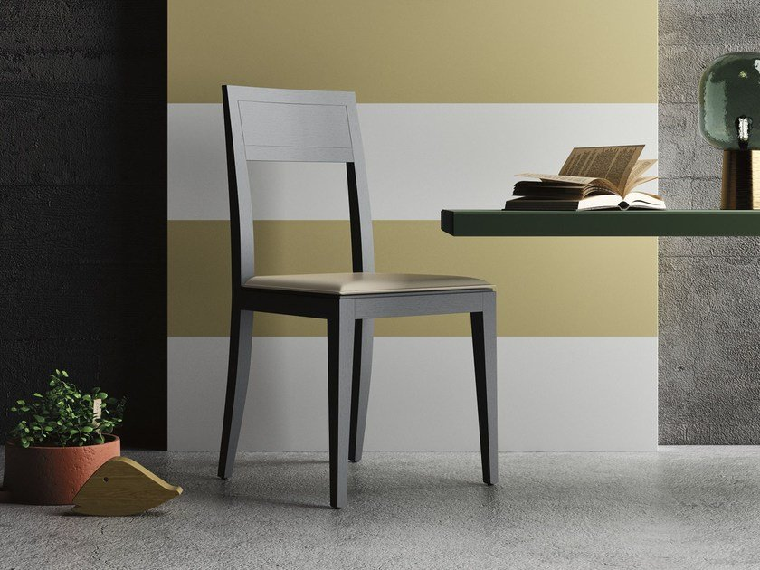 Open back oak restaurant chair MOMA by Imperial Line