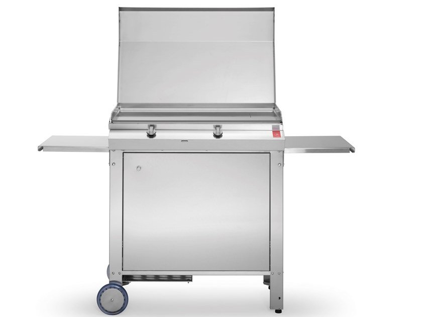 Piastra teppanyaki a gas con carrello MOMA by PLA.NET Outdoor Cooking