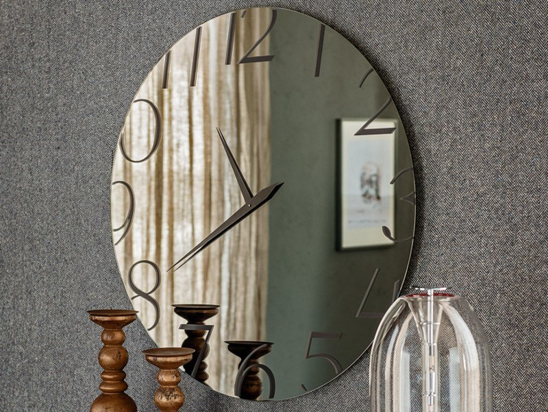 Crystal mirror / clock MOMENT by Cattelan Italia
