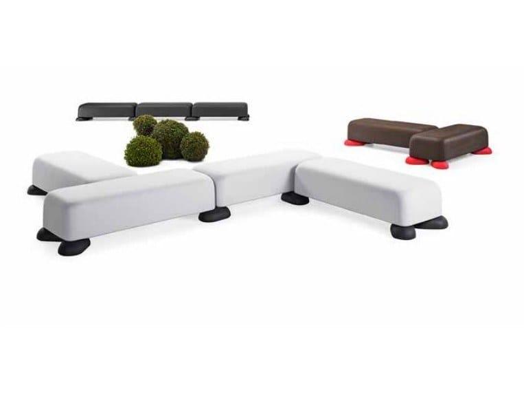 Modular polyethylene bench MOMO by Plust