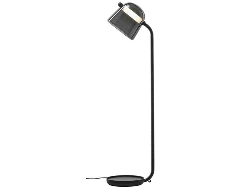 Lampada da terra a LED in vetro soffiato con dimmer MONA | Lampada da terra by BROKIS