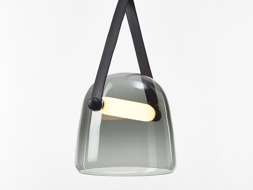 LED blown glass pendant lamp with dimmer MONA | Pendant lamp by BROKIS