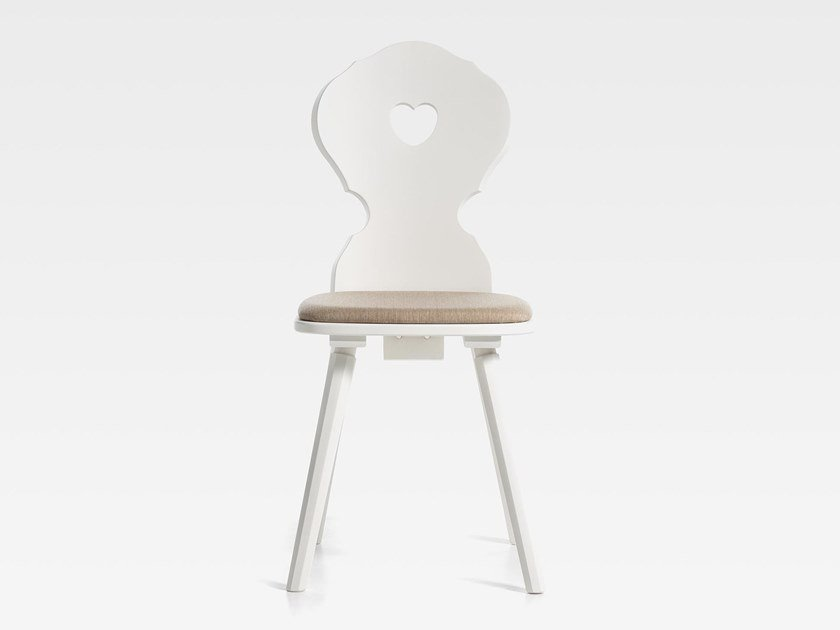 Wooden chair with integrated cushion MONACO | Chair with integrated cushion by SIPA