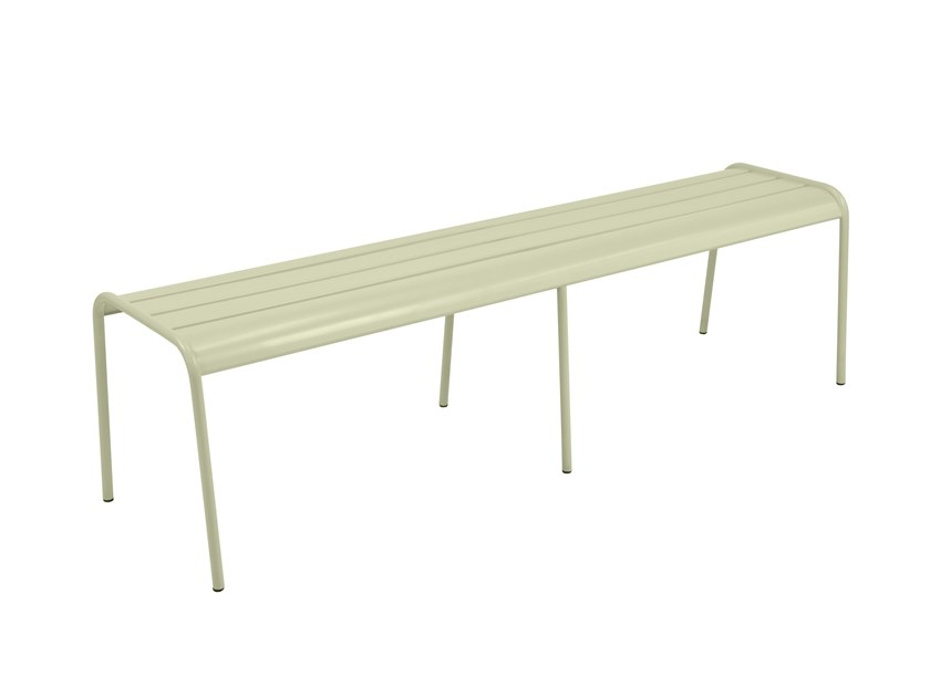 Backless steel Bench MONCEAU   Backless Bench by FERMOB