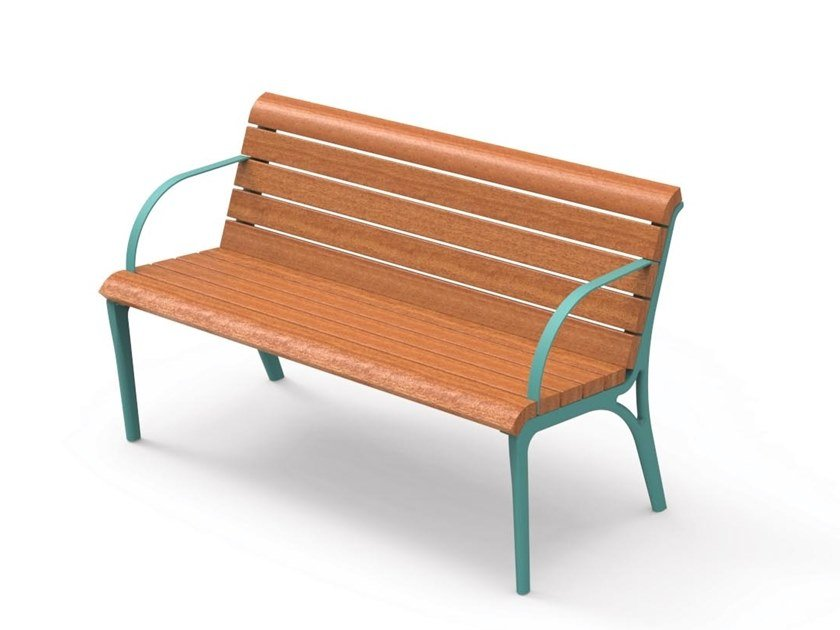Swell Monet Bench With Armrests By City Design Evergreenethics Interior Chair Design Evergreenethicsorg