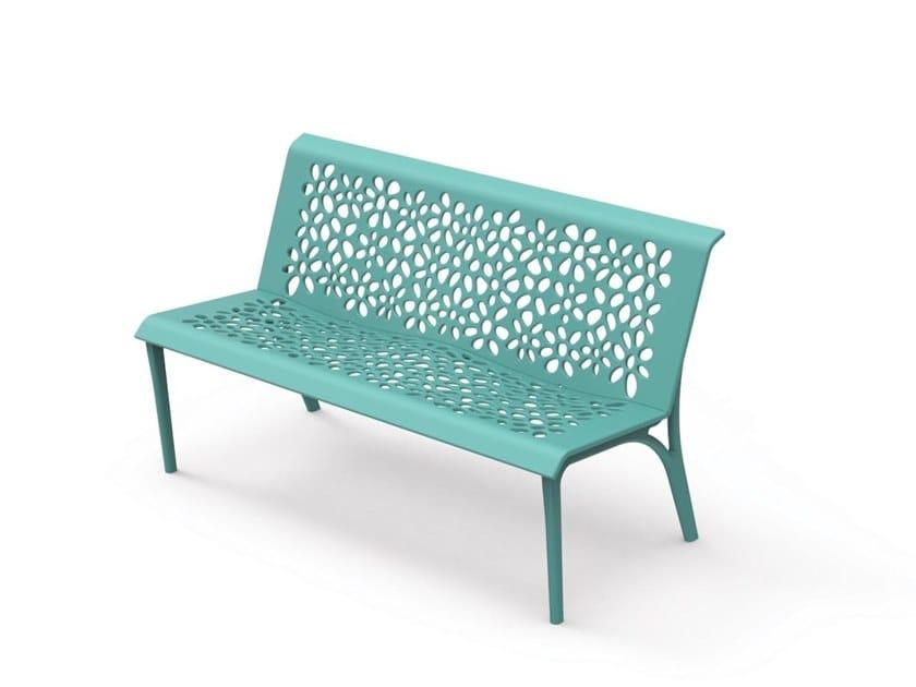 Wondrous Monet Powder Coated Aluminium Bench By City Design Evergreenethics Interior Chair Design Evergreenethicsorg
