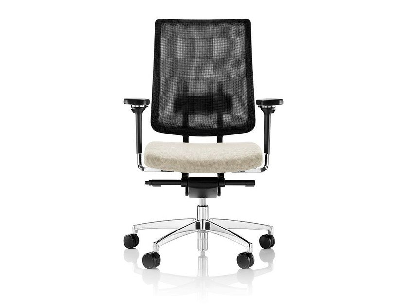 Task chair with 5-Spoke base with armrests with casters MONEY PENNY by Boss Design