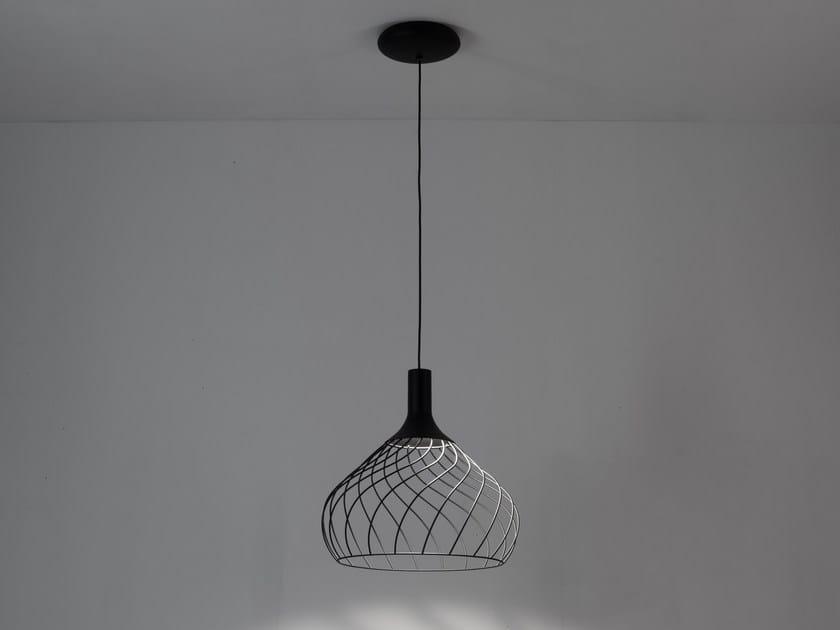Lampada a sospensione a led in ferro mongolfier p by linea light