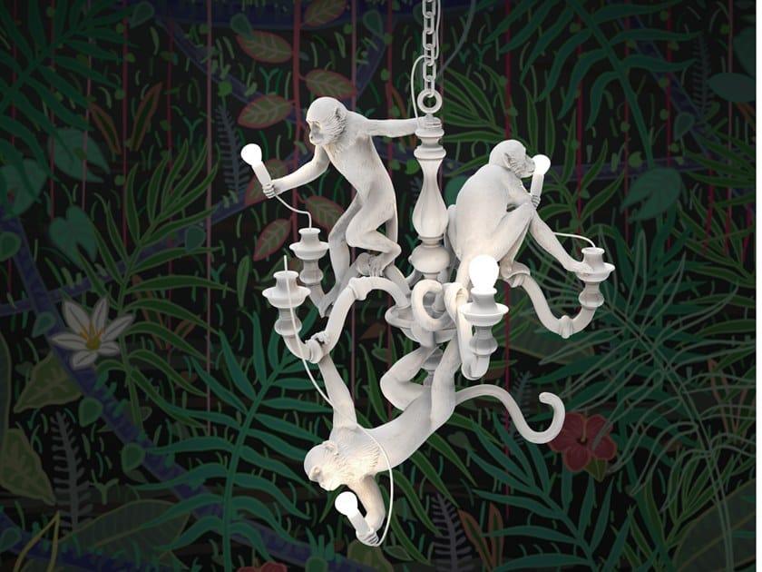 Lampadario a LED in resina MONKEY CHANDELIER by Seletti